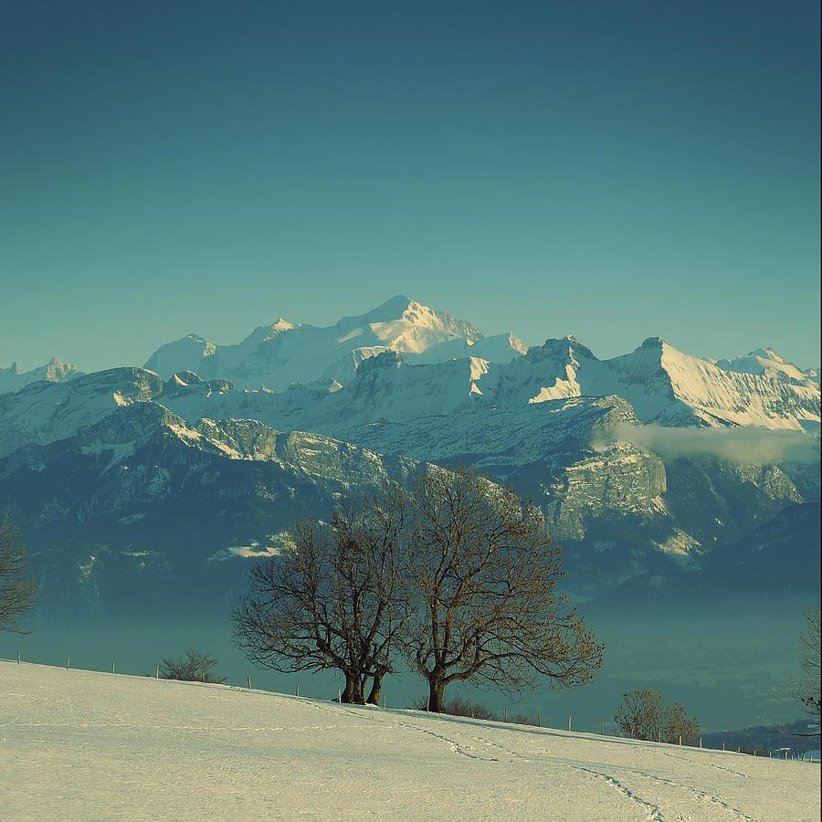Square Photograph - Mont Blanc by Lionel Albino
