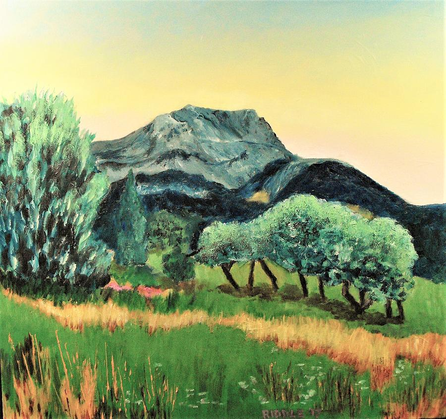 Cezanne Painting - Mont Ste. Victoire by Jack Riddle
