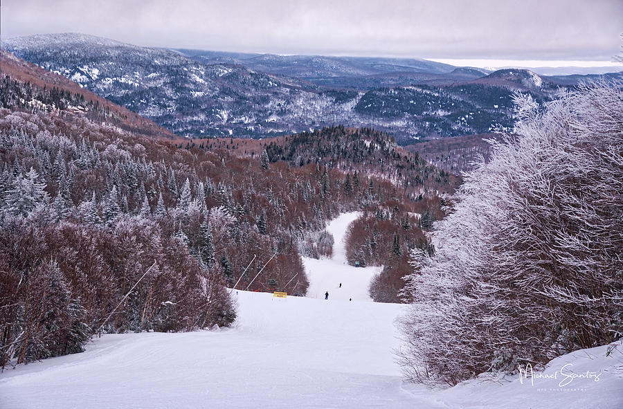 Snow Photograph - Mont Tremblant Slopes by Michael Santos