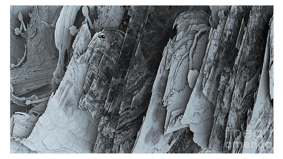 Bleu Digital Art - Montagne by Degouges Cindy