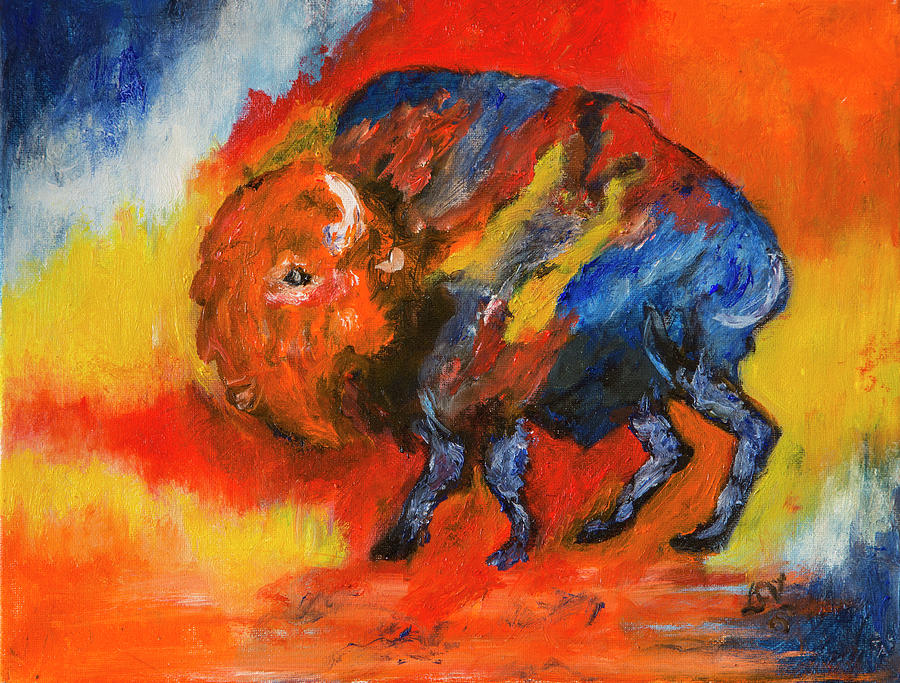 Montana Bison by Lucille Valentino