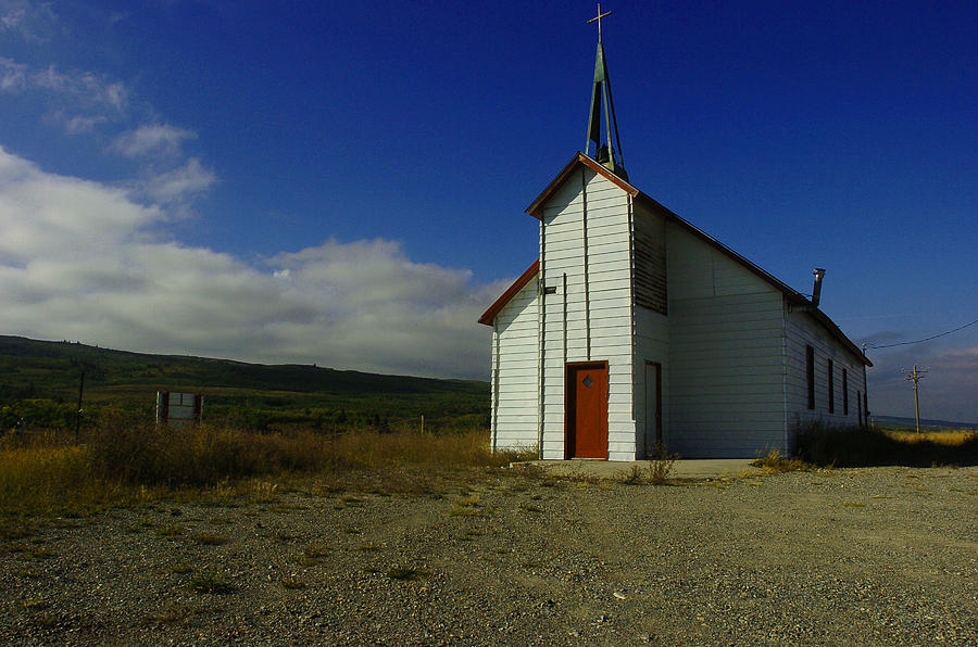 Church Photograph - Montana Church by Tom  Reed