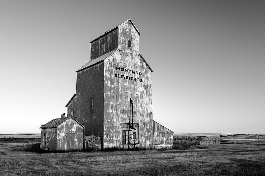 Old Photograph - Montana Elevator Company by Todd Klassy