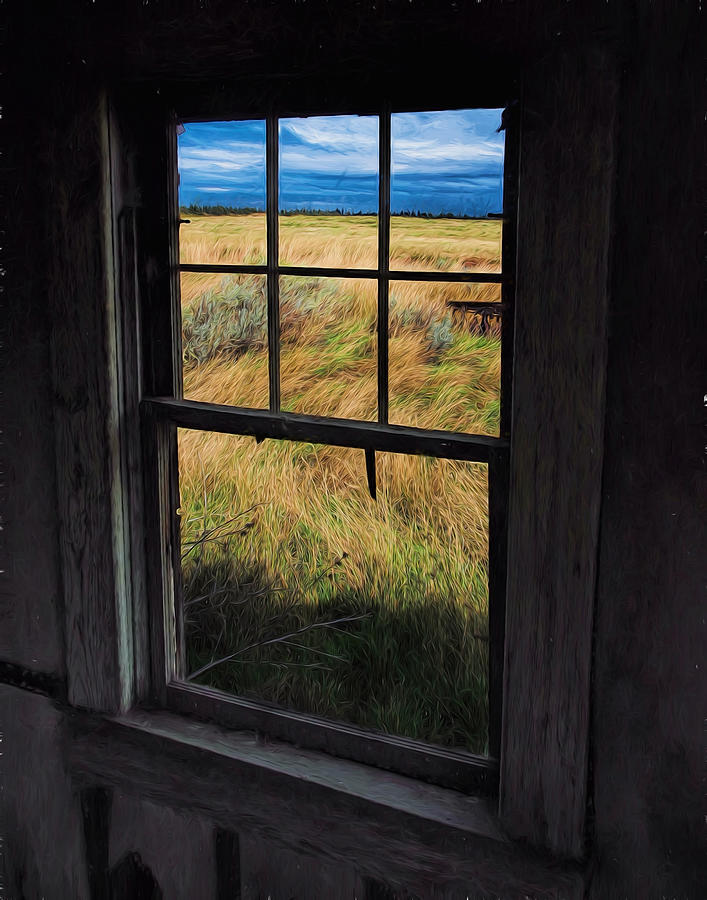 Montana Mine Cabin View by Don Keisling