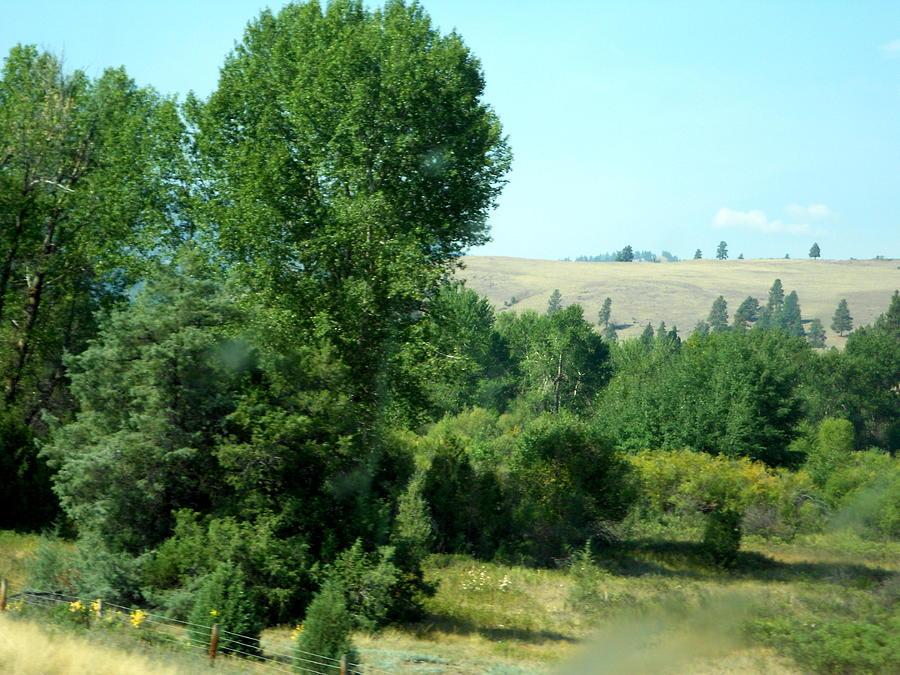 Montana Roadside Through The Big Rig Window - 2015 Photograph