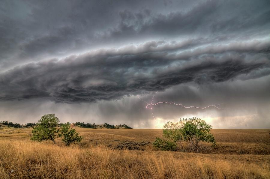 Montana Photograph - Montana Storm by Dave Rennie