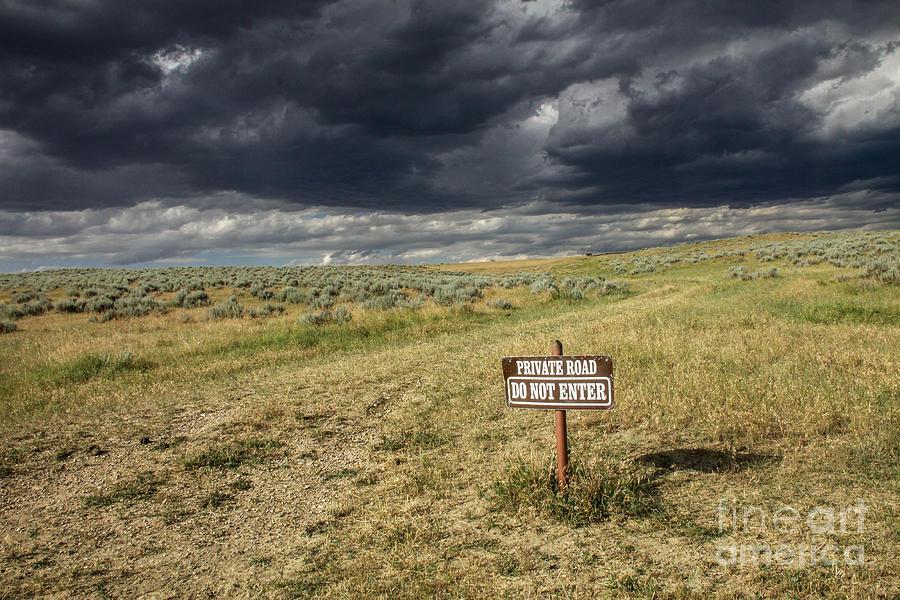 Landscape Photograph - Montana Storm by Sandy Adams