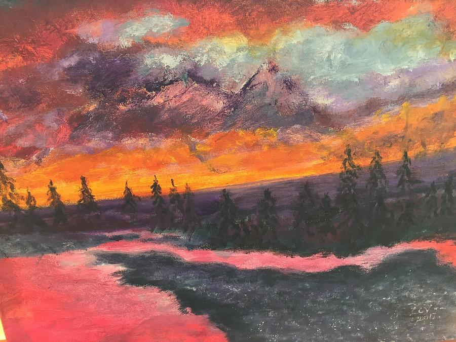 Montana Sunset by Lucille Valentino