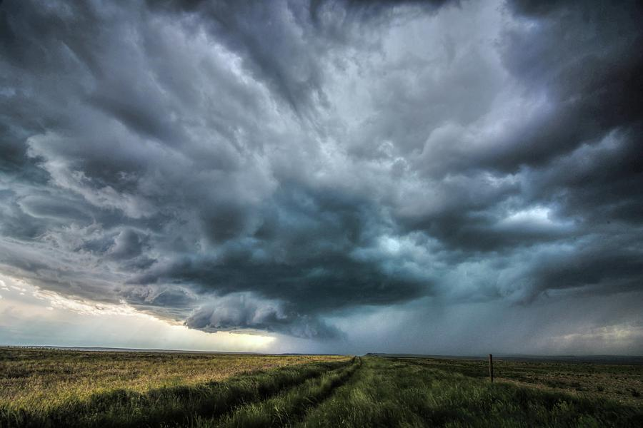 Montana Photograph - Montana Thunderstorm by Dave Rennie