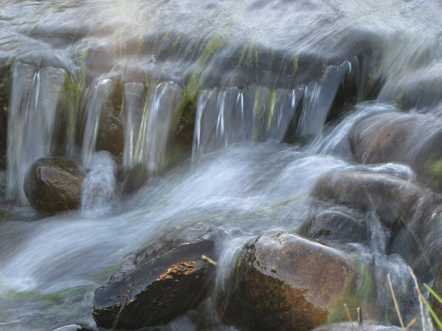 Water Photograph - Montana Waterfall by Kristy Marsich