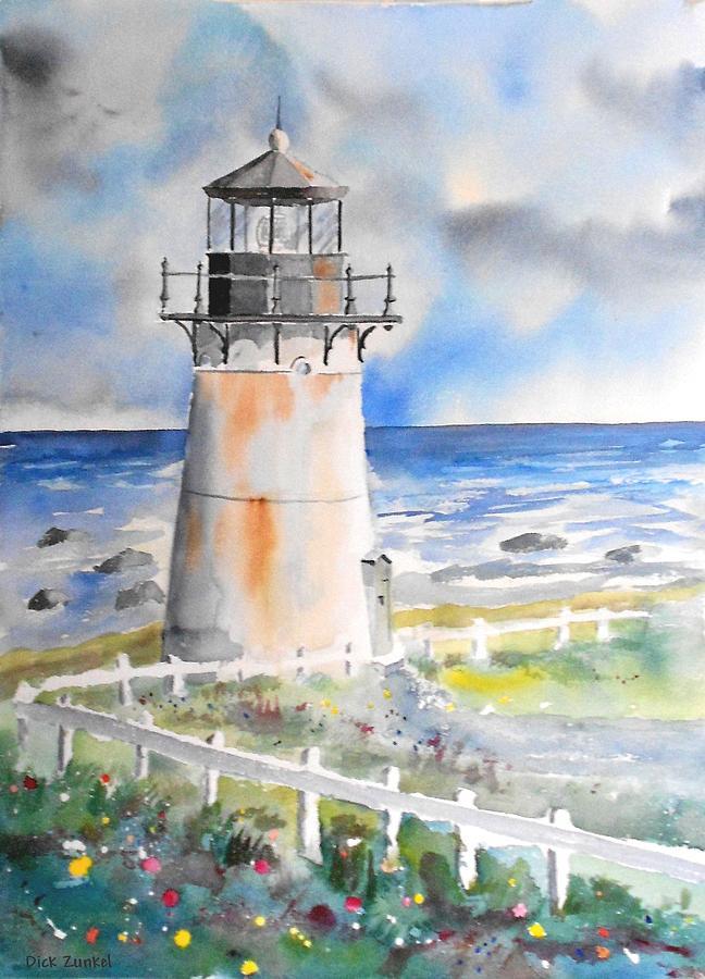 Montara Painting - Montara Lighthouse by Richard Zunkel