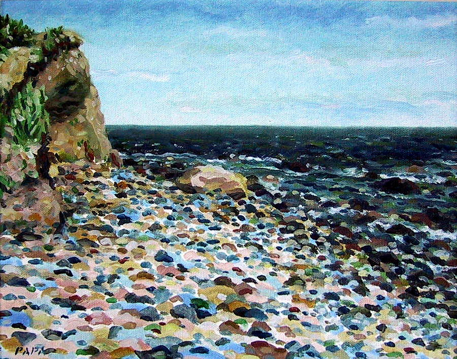 Cliff Painting - Montauk Cliffs by Ralph Papa