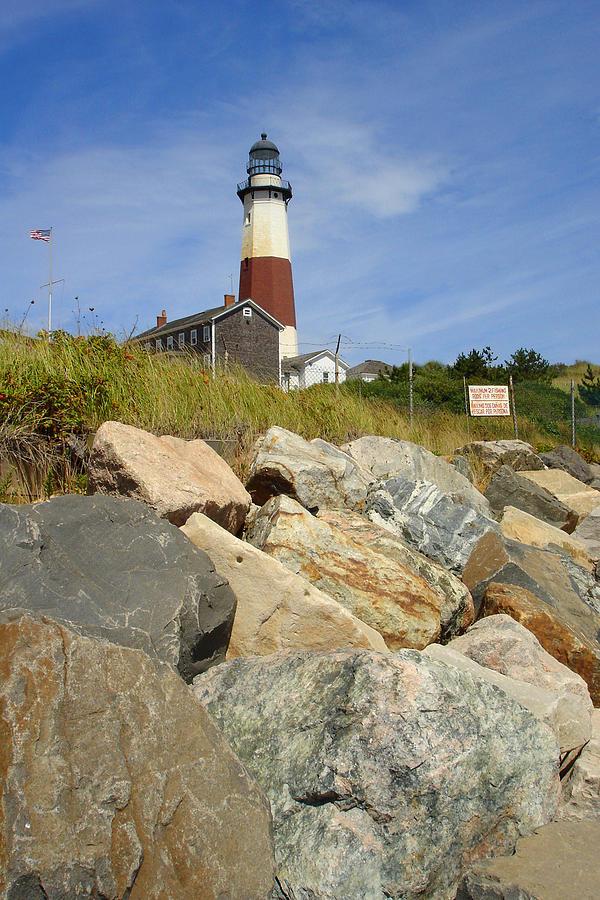 Montauk Photograph - Montauk Lighthouse 2 by Michael Simeone