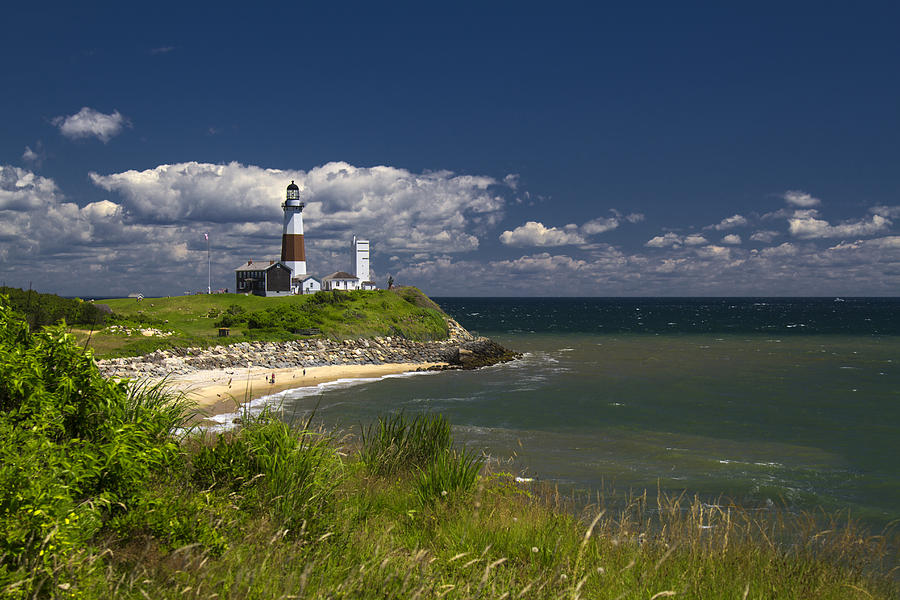 Lighthouse Photograph - Montauk Lighthouse by Bob Retnauer