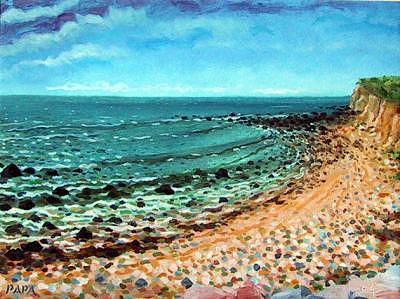 Montauk Painting - Montauk Point 01A by Ralph Papa