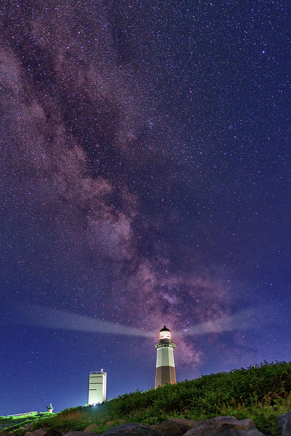 Montauk Photograph - Montauk Point And The Milky Way by Rick Berk