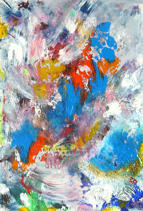 Abstract Painting - Monte Carlofireworks 2 by Greg Gierlowski