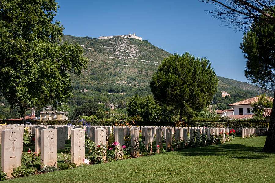 Abbey Photograph - Monte Cassino Abbey by Michael Greaves
