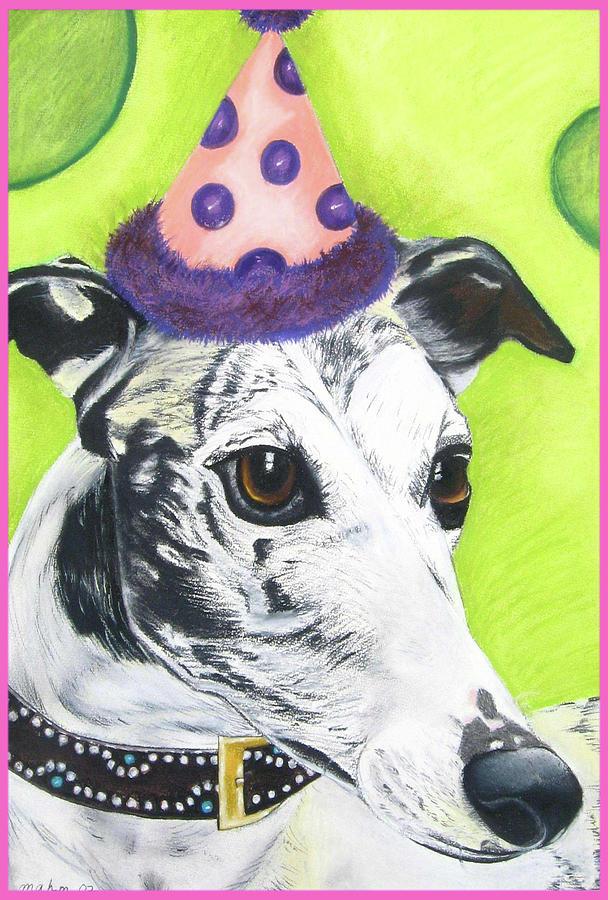 Dog Painting Pastel - Monte by Michelle Hayden-Marsan