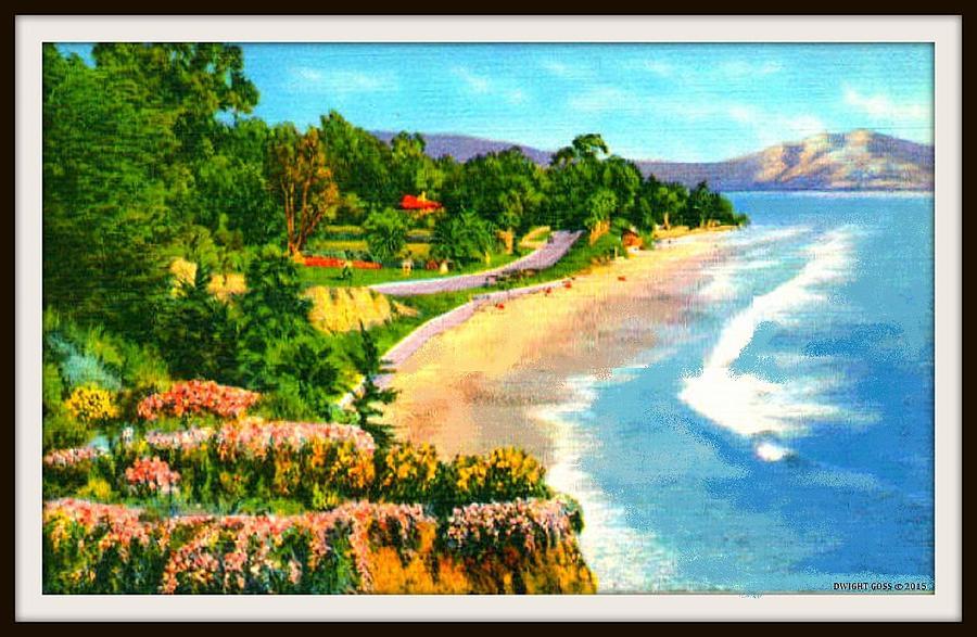 Montecito beach santa barbara ca 1935 mixed media by dwight goss beaches mixed media montecito beach santa barbara ca 1935 by dwight goss publicscrutiny Choice Image
