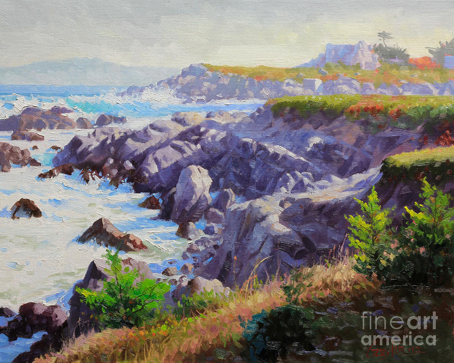 Morning Painting - Monteray Bay Morning 1 by Gary Kim