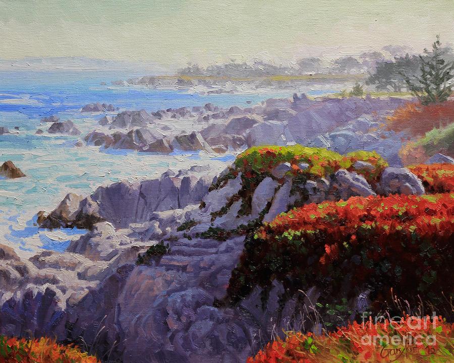 Monteray Bay Painting - Monteray Bay Morning 2 by Gary Kim