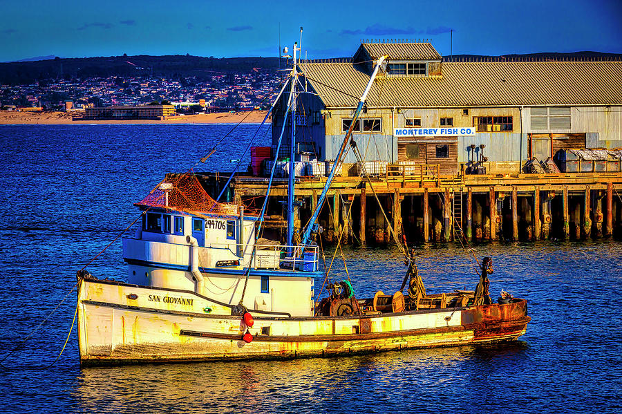 Monterey Bay Photograph - Monterey Bay Fishing Boat by Garry Gay