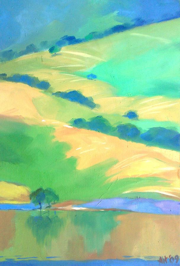 Landscape Painting - Monterey Calif by Atul Talegaonkar