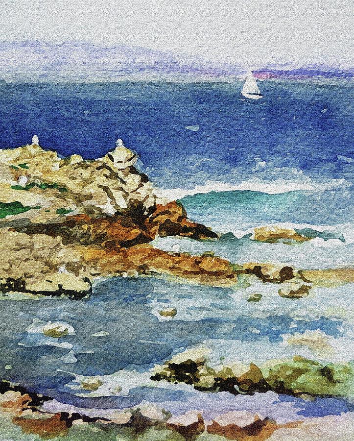 Ocean Painting - Monterey by Irina Sztukowski