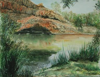 Montezuma Pond By Kanab Utah Print by Veda Hale