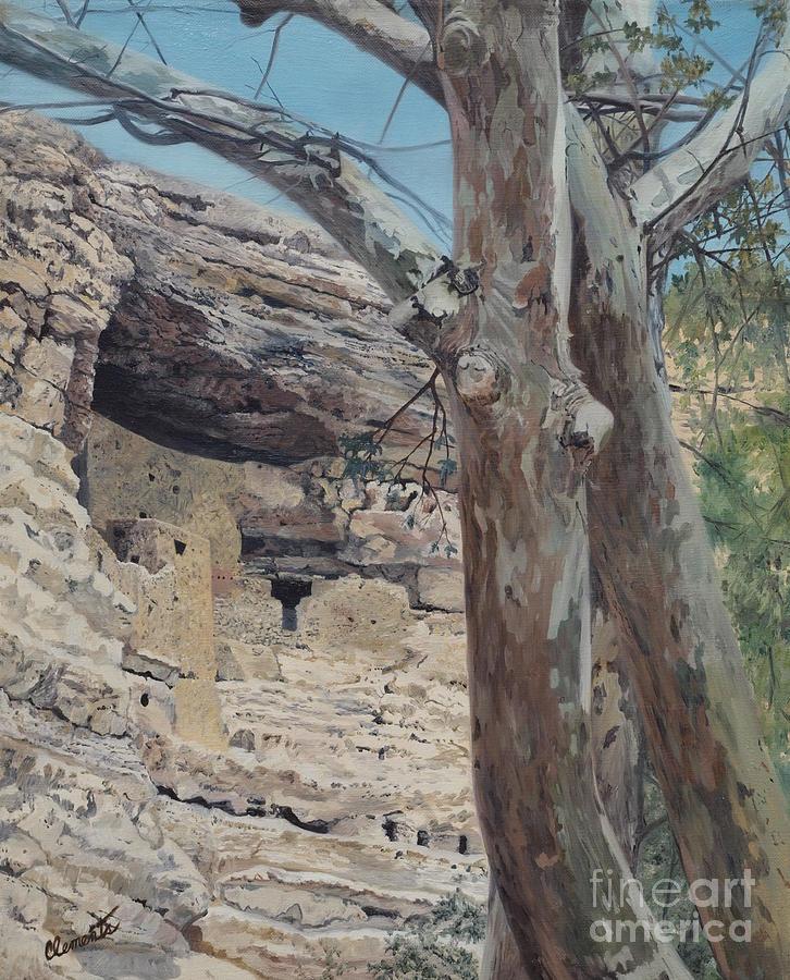 Montezuma Painting - Montezumas Castle by Barbara Barber