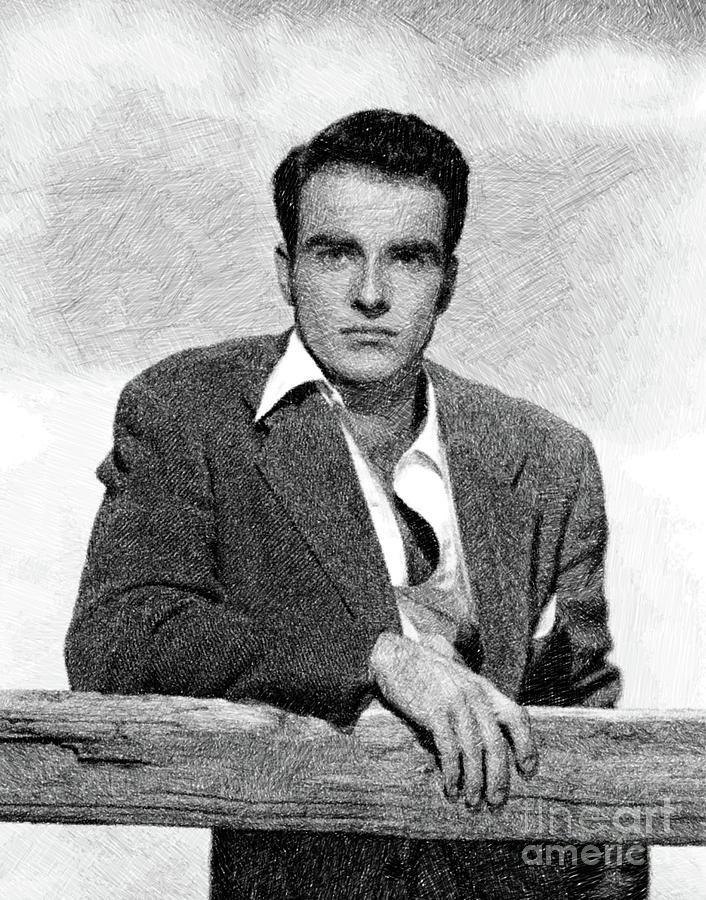 Montgomery Clift, Vintage Actor By Js Drawing