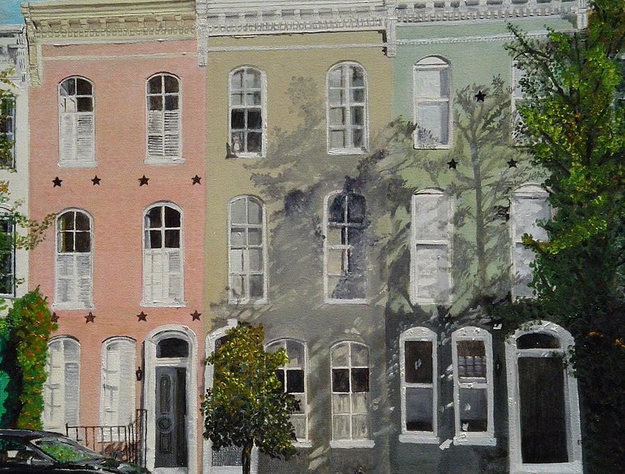 Montgomery Street Painting - Montgomery Street Trio by John Schuller