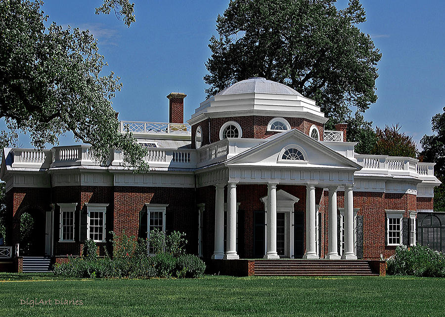 President Digital Art - Monticello by DigiArt Diaries by Vicky B Fuller