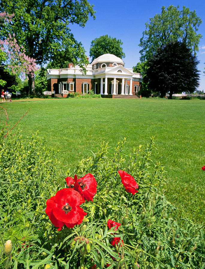 Monticello Photograph   Monticello Gardens 2 By Buddy Mays