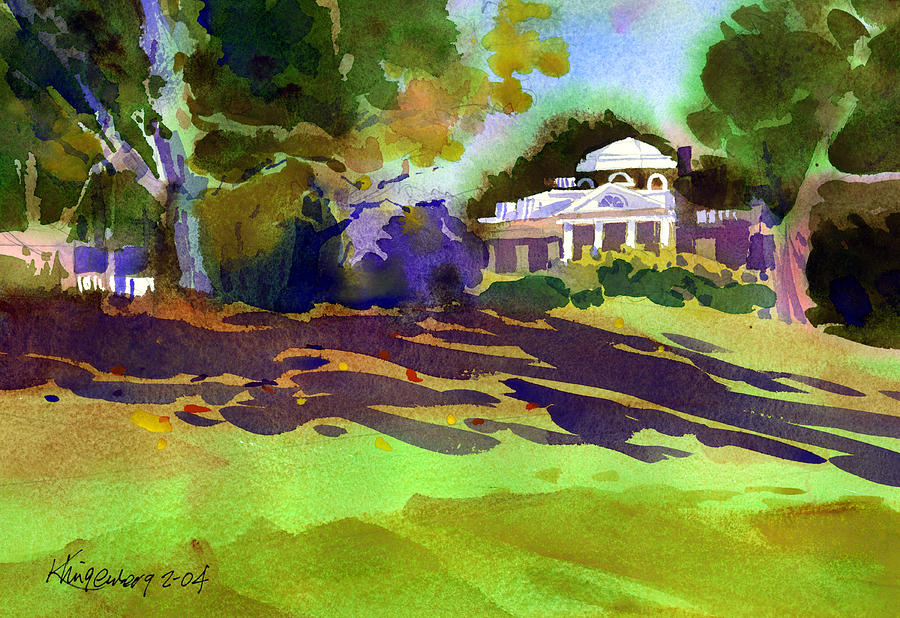 Thomas Jefferson Painting - Monticello In October by Lee Klingenberg