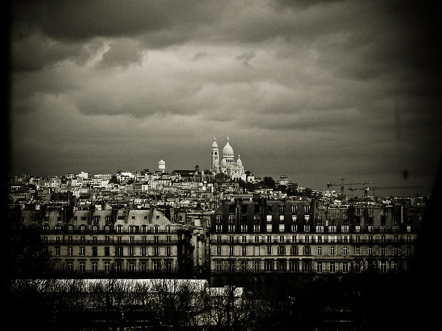 Paris Photograph - Montmartre Black And White by Mark Currier