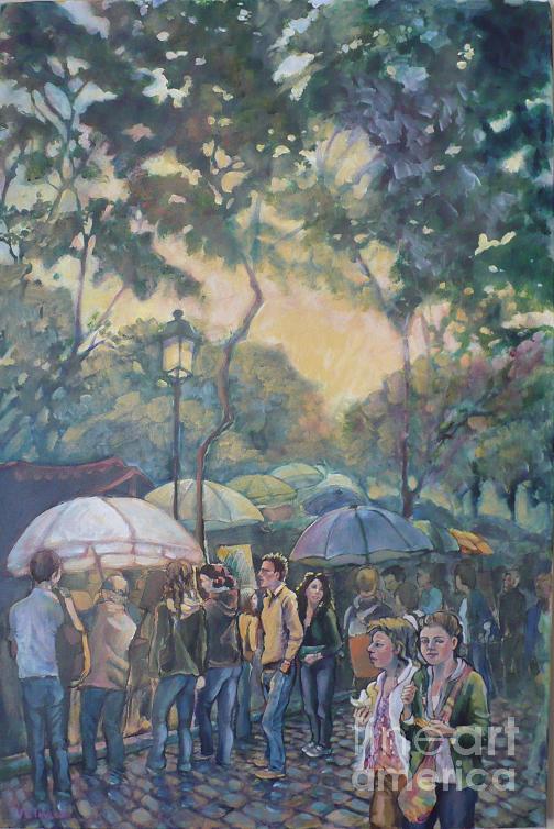 Sunlight Painting - Montmartre Paris by Violet Taylor