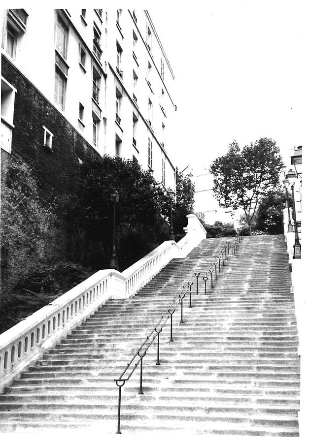 Montmartre Steps Photograph by Gordon Lukesh