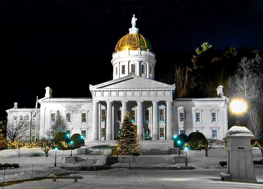 Montpelier Photograph - Montpelier Christmas Eve Night by Jim Proctor