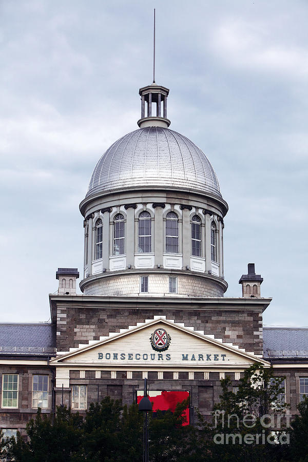 Montreal Photograph - Montreal Bonsecours Market by John Rizzuto