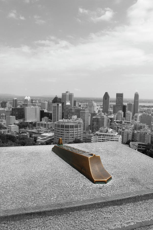 Montreal Cityscape BW with color by Samantha Delory