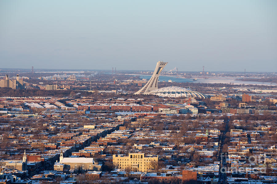 Montreal Photograph - Montreal Cityscape With Olympic Stadium by Jane Rix