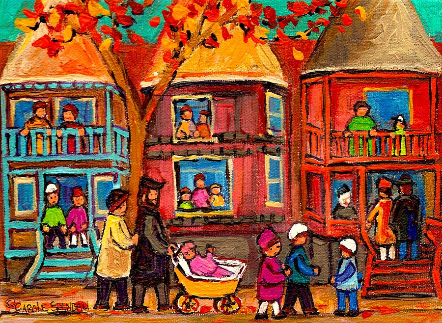 Montreal Painting - Montreal Early Autumn by Carole Spandau
