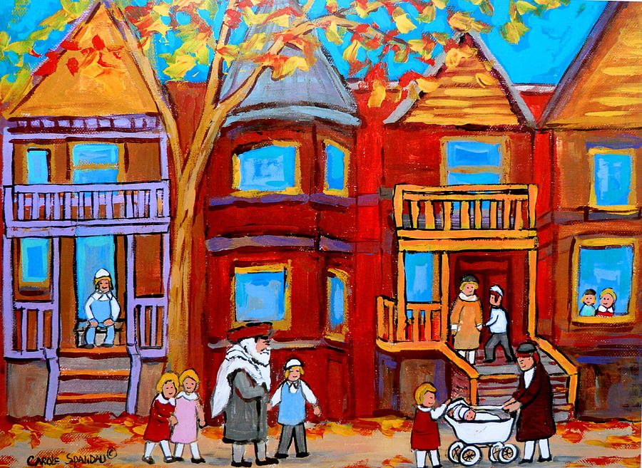 Outremont Painting - Montreal Memories Of Zaida And The Family by Carole Spandau