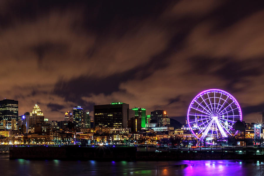 Montreal Photograph - Montreal Observation Wheel by Lorrie Joaus