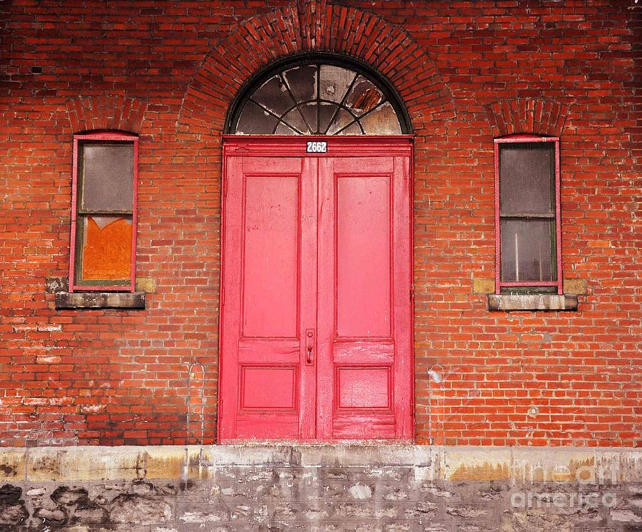 Red Doors Photograph - Montreal Street Photography by Reb Frost