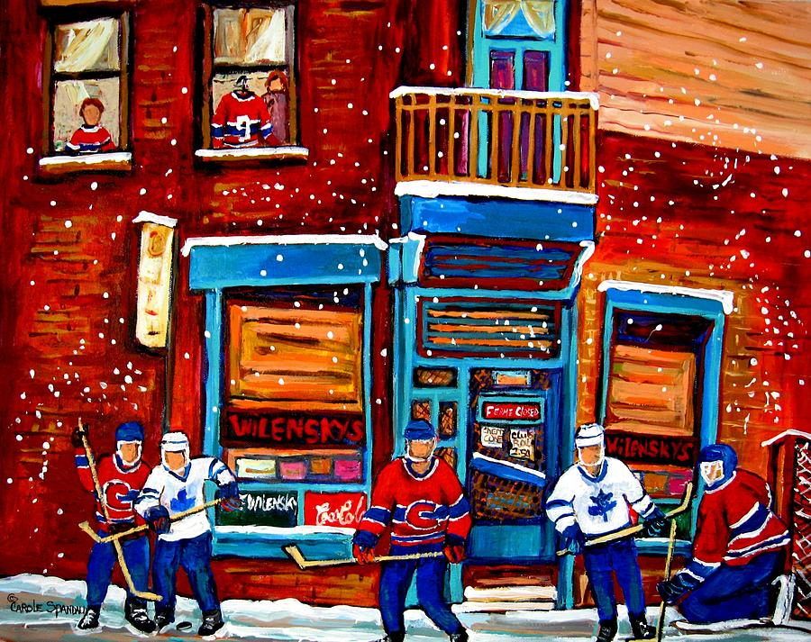 Montreal Painting - Montreal Wilensky Deli By Carole Spandau Montreal Streetscene And Hockey Artist by Carole Spandau