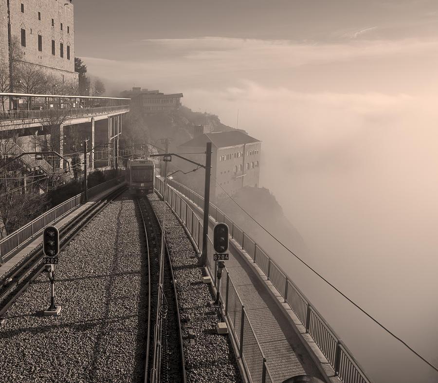 Montserrat Winter Morning Bw Photograph