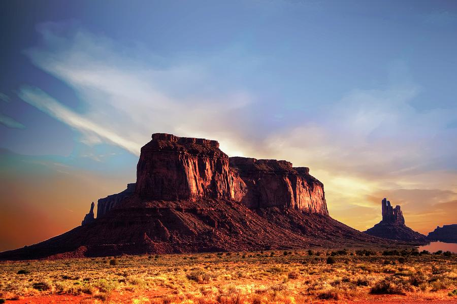 Mesa Photograph - Monument formations by Roy Nierdieck